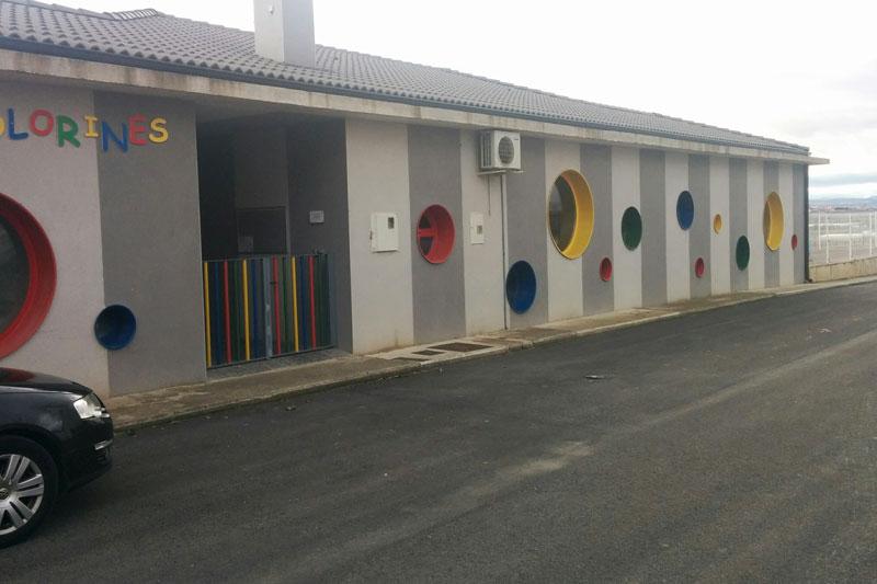 Entrada principal Escuela Infantil de Cadreita