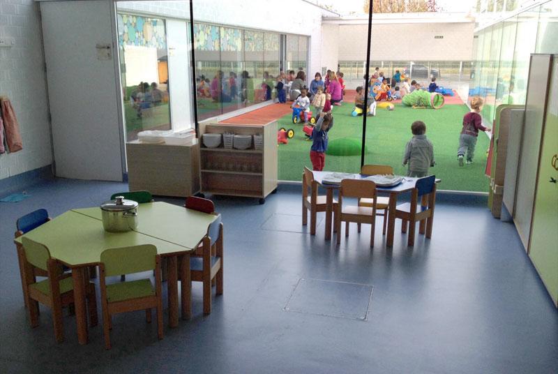 Comedores y patio. Escuela infantil de Burlada